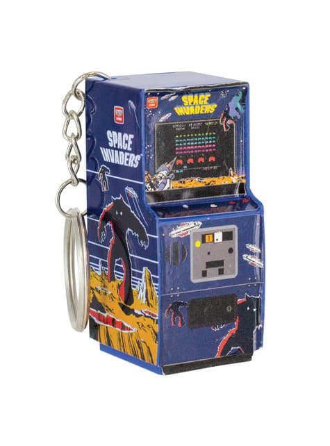3D Space Invaders Arcade Machine nøglering