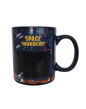 Taza de Space Invaders cambia color