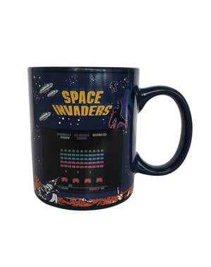 Space Invaders colour-changing mug