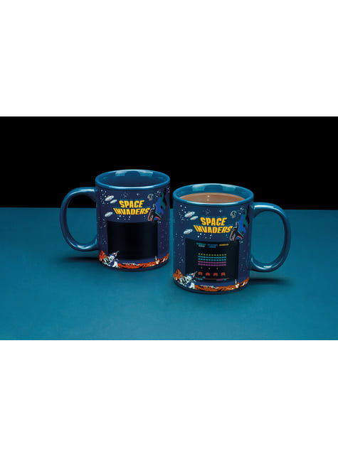 Taza de Space Invaders cambia color - barato