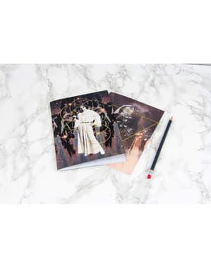Anteckningsböcker med Darth Vader och prinsessan Leia - Star Wars