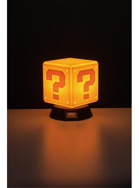 Lámpara 3D Super Mario Block 10 cm
