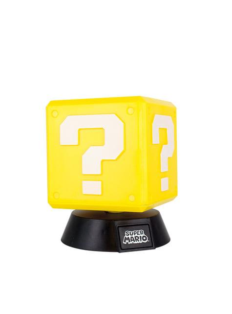 Super Mario Question Block 3D Light 10 cm