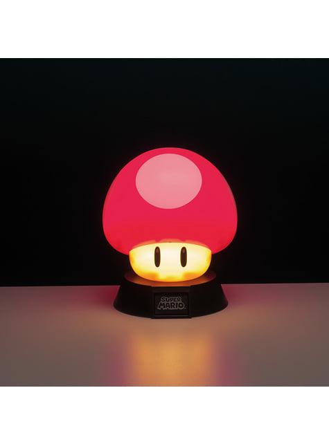 3D Pilz Nachttischlampe 10 cm - Super Mario Bros