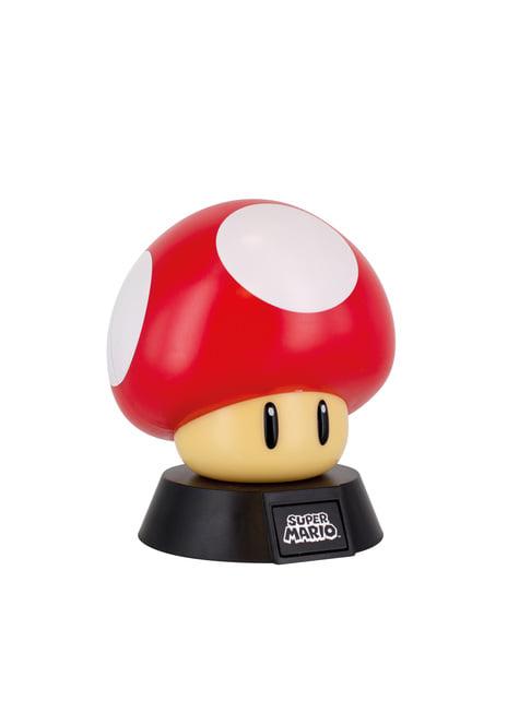 Candeeiro 3D Cogumelo 10 cm - Super Mario Bros