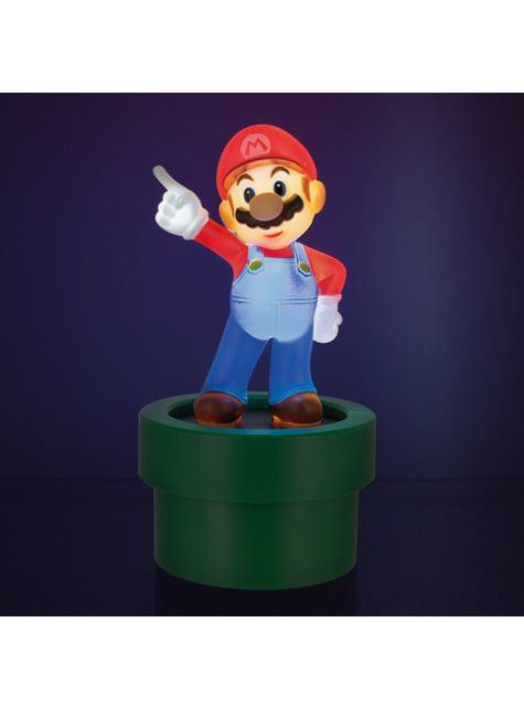 Figura 3D de Super Mario con luz - oficial