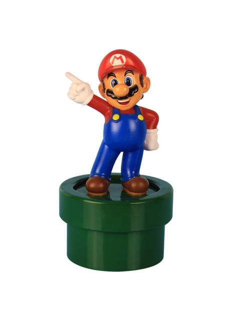 Figura 3D de Super Mario com luz