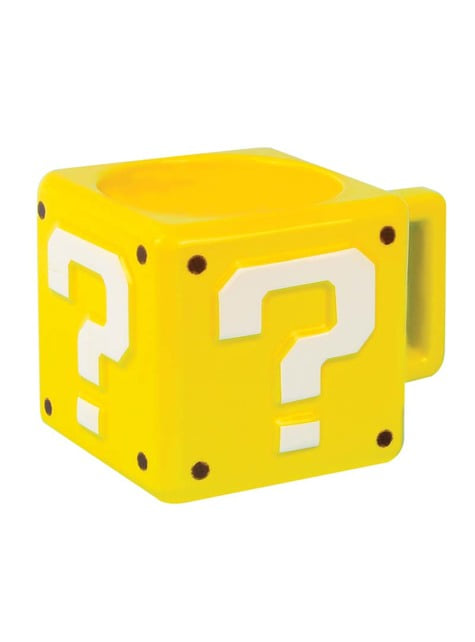 3D Question Mark Super Mario Bros mug