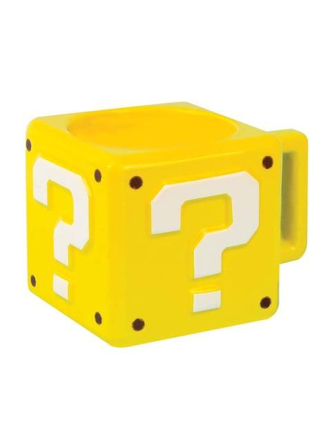 Taza 3D Super Mario Bros Interrogante