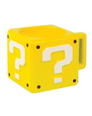 3 डी प्रश्न मार्क सुपर मारियो ब्रदर्स मग