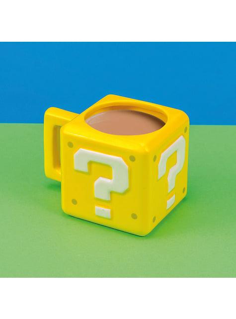 Taza 3D Super Mario Bros Interrogante - oficial
