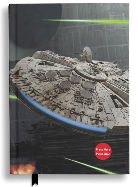 Caderno de Star Wars Millennium Falcon com luz e som