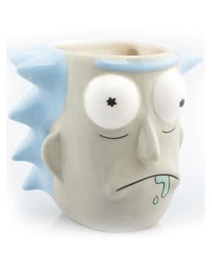 Taza 3D de Rick y Morty Rick Sánchez