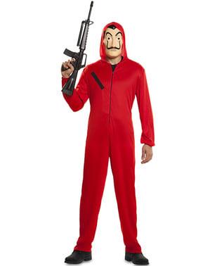 Wang Heist kostum dan topeng untuk orang dewasa