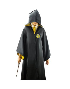 Hufflepuff Deluxe Kappe til Voksne (Officiel Samler Replika) - Harry Potter