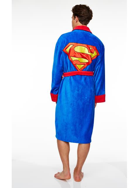 Roupão de Super-homem para adulto