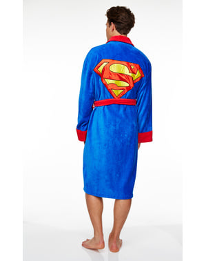 Superman bathrobe for adults