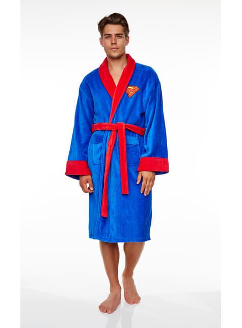 Superman bathrobe for adults
