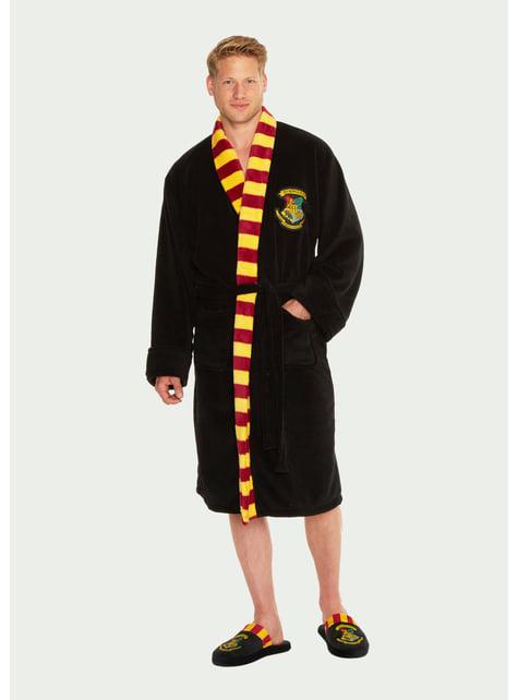 Hogwarts Fleece Bathrobe for Men - Harry Potter