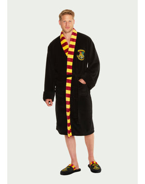 Hogwarts Fleece Bathrobe for Men - Harry Potter