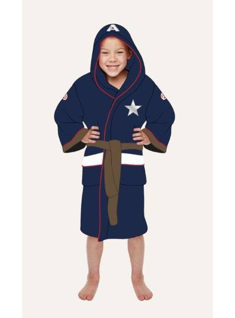 Albornoz de Capitán América para niño