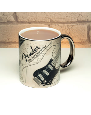 Chrome plated Fender Stratocaster mug