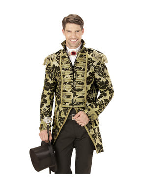 Men's gold lion tamer circus jacket