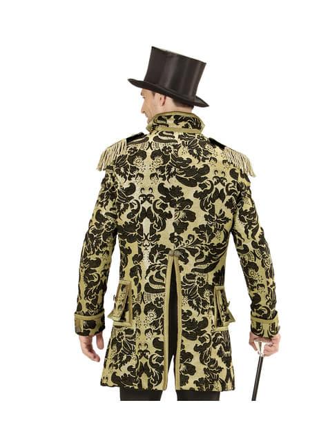 Casaco de domador de circo dourado para homem