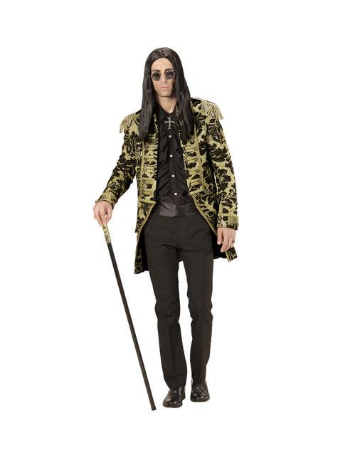 Chaqueta de domador de circo dorada para hombre - traje