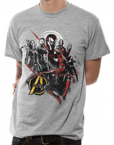 Triko The Avengers  Infinity war pro dospělé šedé 2fe4d4dc0a