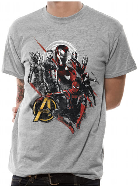 T-shirt de Vingadores cinzenta para adulto - Vingadores: Infinity War
