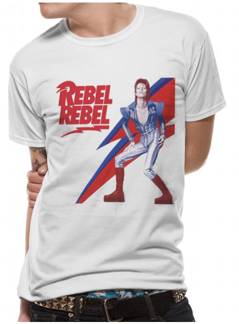 T-shirt David Bowie Rebel Rebel para homem