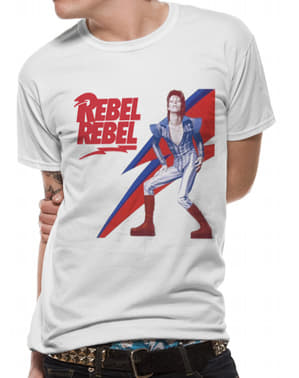 David Bowie Rebel Rebel T-Shirt til mænd