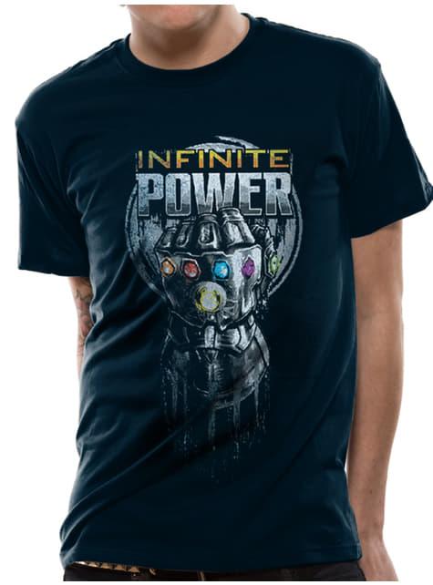 Niebieska koszulka Thanos Rękawica Nieskończoności - Avengers Wojna bez granic