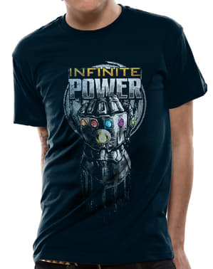 חולצת טריקו עם הכפפה של תאנוס בצבע כחול - מלחמת האינסוף הנוקמים