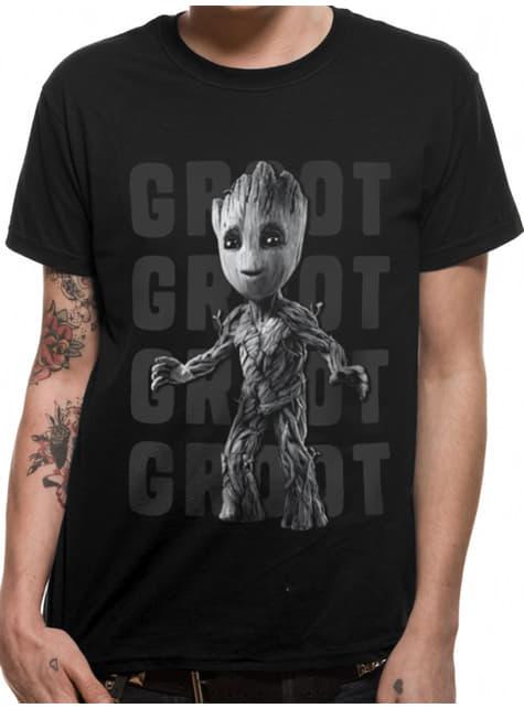 T-shirt de Groot adolescente para homem - Guardiões da Galáxia