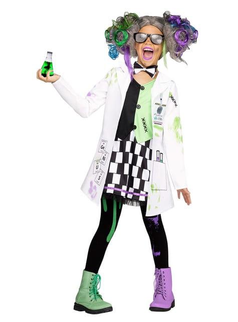 Fato de cientista louco para menina