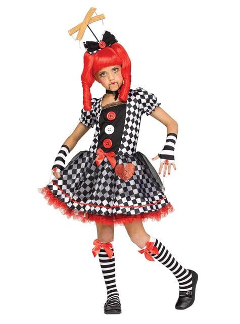 Fato de boneca marioneta para menina