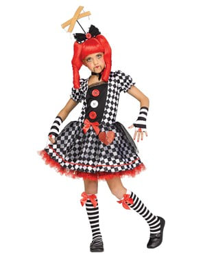 Maskeraddräkt marionettdocka för barn