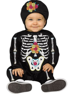 Skeleton of the Day of the Dead costume for babies