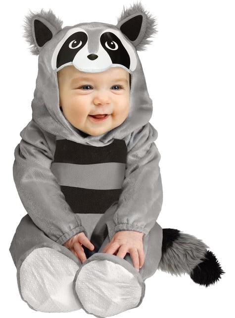 Fato de mapache para bebé