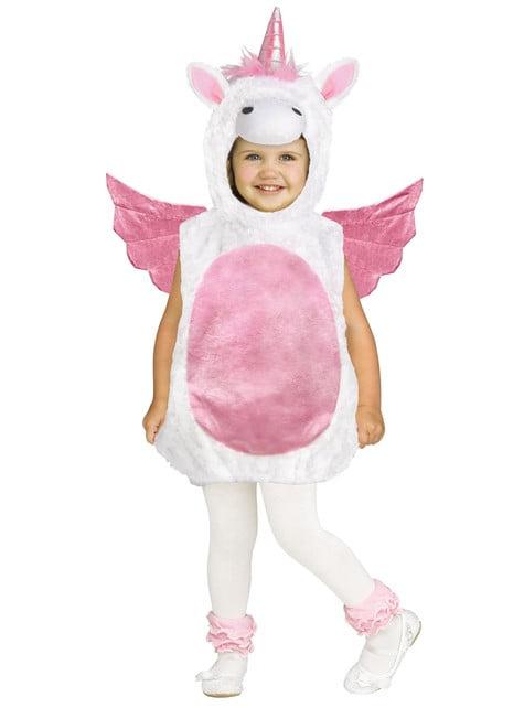 Bebekler için Uçan Unicorn kostümü