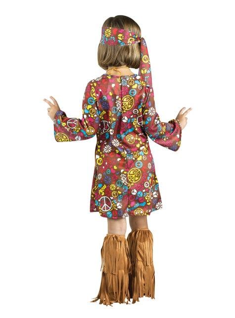Disfraz de hippie marrón para niña - niña