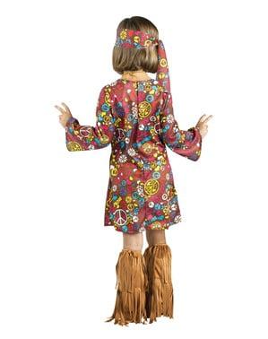 Costume da hippy marrone per bambina