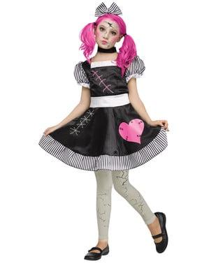Costume da bambola rotta per bambina