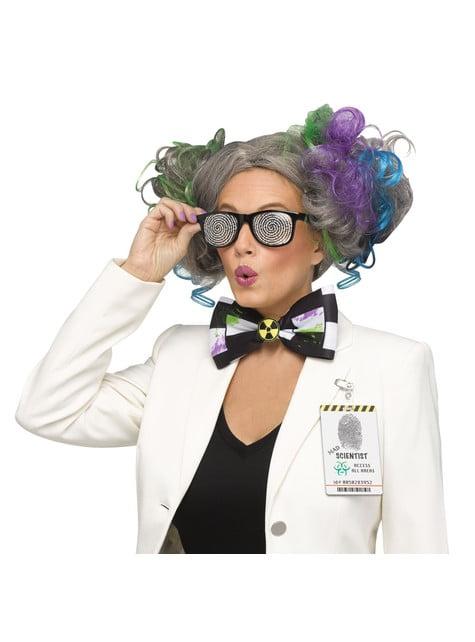 Peluca de científico loco para mujer