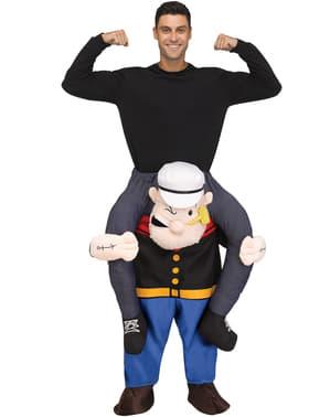 Maskeraddräkt Popeye Ride on för vuxen