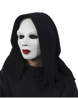 Máscara de freira tétrica para adulto