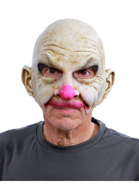 Máscara de payaso calvo UV glow para adulto - para tu disfraz
