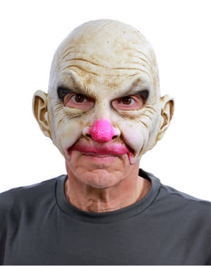 Bald Clown mask for adults UV glow